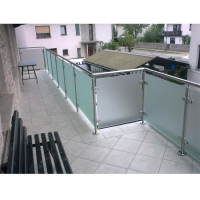 Buy cheap Railing with Tempered Glass and Steel Post p-67 from wholesalers