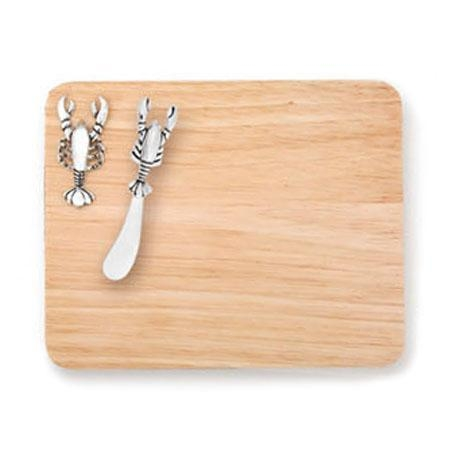 China D10008 Lobster Spreader with Wood Board Set