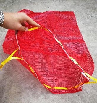 China pe raschel bag for packing fruit vegetable