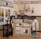 China Boutique Baby Teddy Bear 13PCS CRIB BEDDING SET