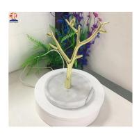 China White Marble Base Small Tree Jewelry Display Stand with Metal wholesale